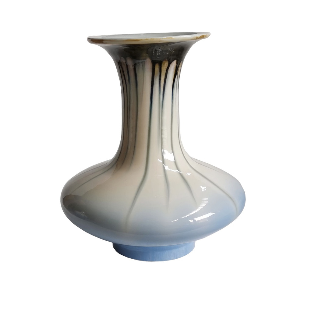 Reaction Glazed Morning Glory Vase Large