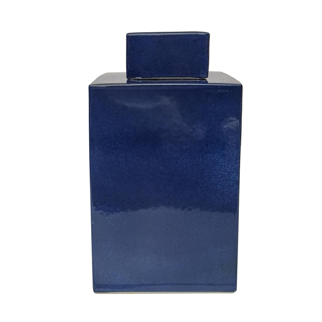 Square Tea Jar  Navy Blue - 3 Sizes