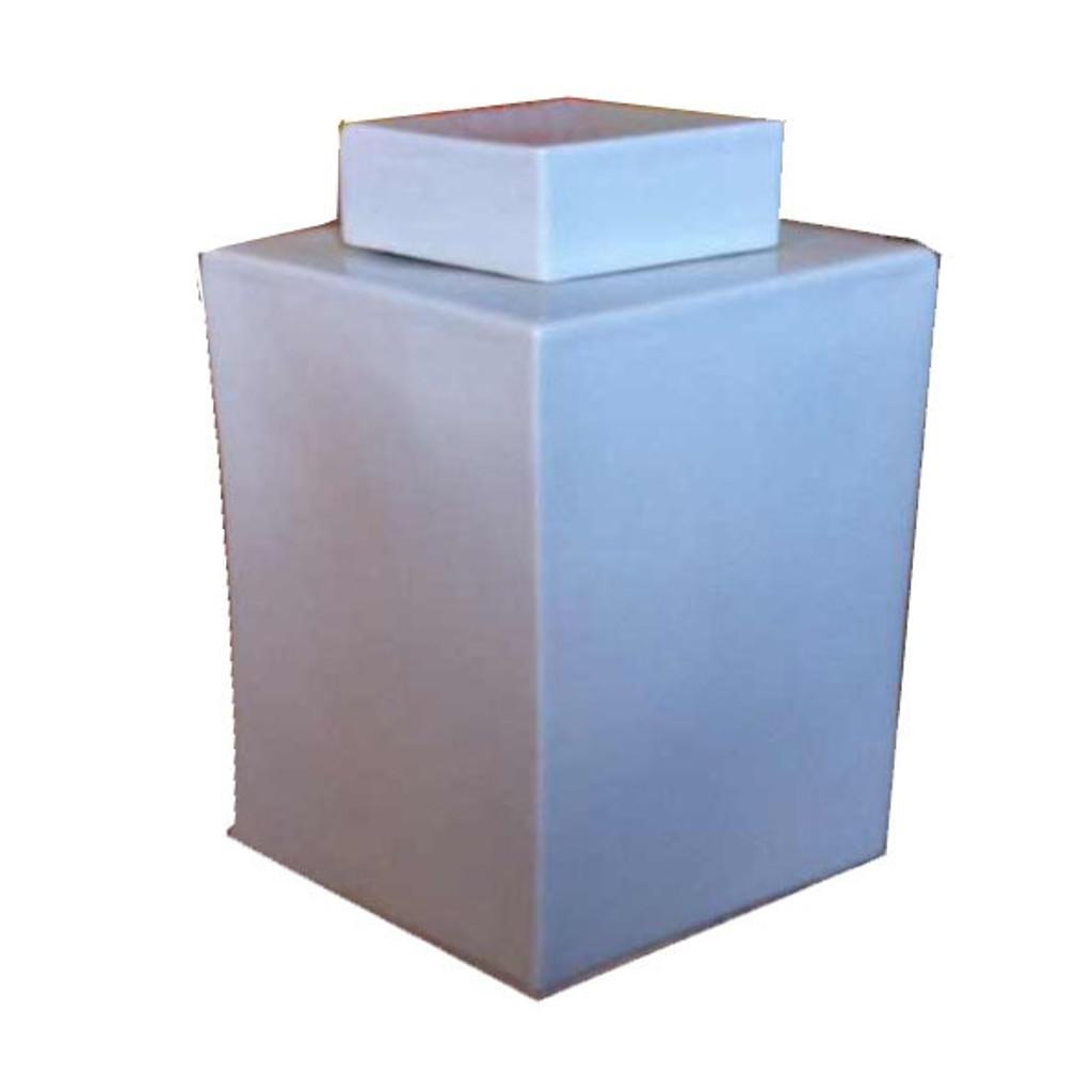 Diamond Shape Tea Jar Large - White