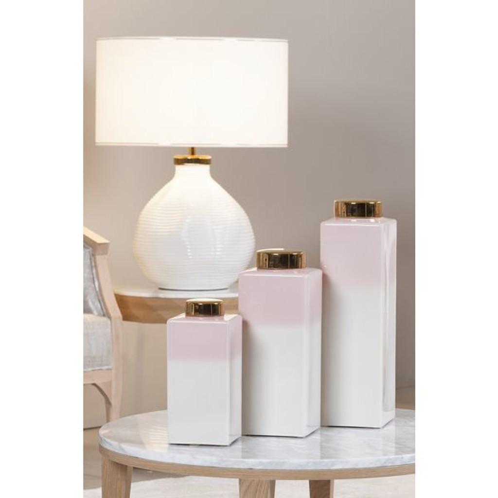 Blush Pink Pot w/Lid Haley - 3 Sizes