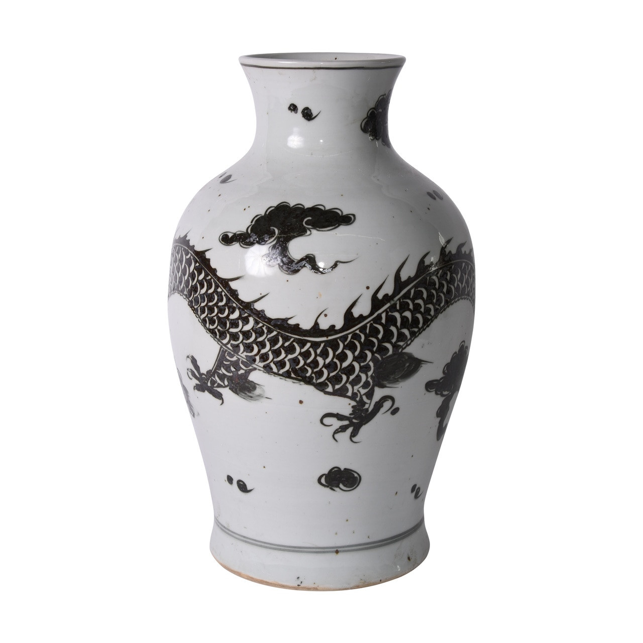 Porcelain Black Dragon Fairy Vase - 2 Sizes
