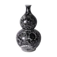 Black Dragon Gourd Vase