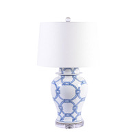 Blue and White Lover Locks Table Lamp - 2 Sizes