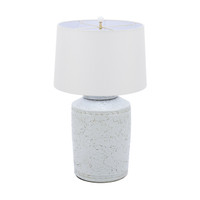 Rustic White Carved Vine Lamp Tea Jar Shape
