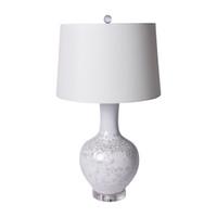 Crystal Shell Globular Vase Table Lamp