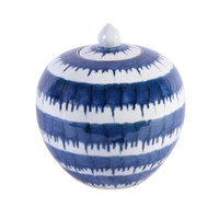 Blue And White Drip Melon Porcelain Jar