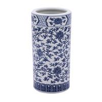 Blue & White Twisted Lotus Umbrella Stand Porcelain Vase