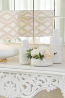 Pot w/Lid Locke Ceramic White/ Golden - 2 Sizes