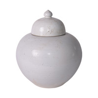 Busan White Lidded Jar