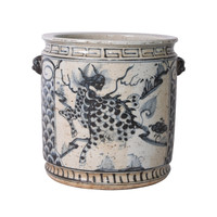 Blue And White Kylin Orchid Pot