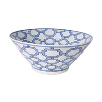 Blue And White Octagonal Window Bowl