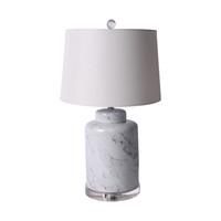Marblized Round Tea Jar Lamp - 2 Sizes