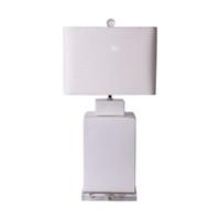 Matte White Square Tea Jar Lamp