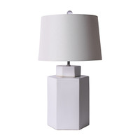 Matte White Hexagonal Tea Jar Lamp
