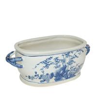 Blue And White Four Season Foot Bath Planter