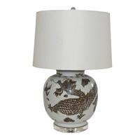 Brown Dragon Open Top Jar Lamp