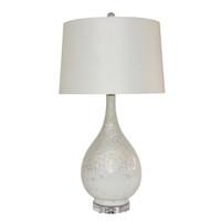 White Crystal Shell Long Neck Vase Lamp