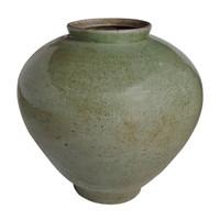 Large Celadon Crackle Cone Shaped Jar