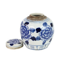 Blue And White Mini Jar The Peony