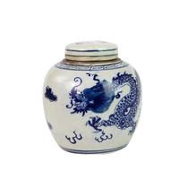 Blue And White Mini Jar Dragon