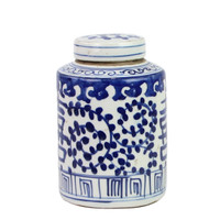 Blue And White Mini Tea Jar Double Happiness