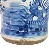 Vintage Temple Jar Plum Lily Pad Motif - 2 Sizes