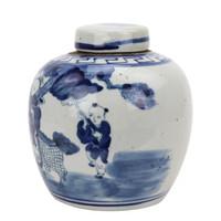 Blue And White Mini Jar Boys With Kyrin
