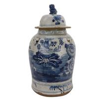 Vintage Temple Jar Four Season Plants - 2 Sizes