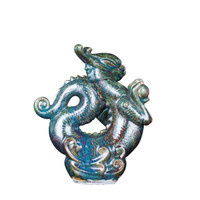 Speckled Green Dragon Statue