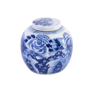 Blue & White Peony Ancestor Jar