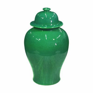Emerald Green Temple Jar