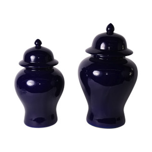 Cobalt Blue Temple Jar - 2 Sizes