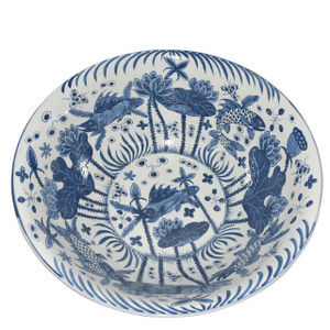 Blue & White Fish Bowl Large