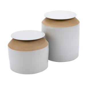 Matt White Lidded Jar - 2 Sizes