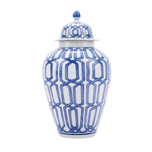 Blue & White Crossing Dimaond Heaven Jar