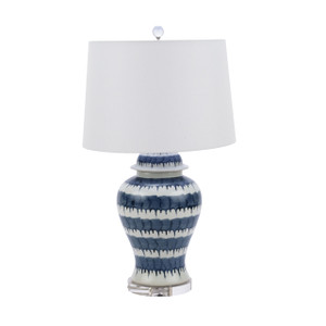 Blue and White Drip Table Lamp