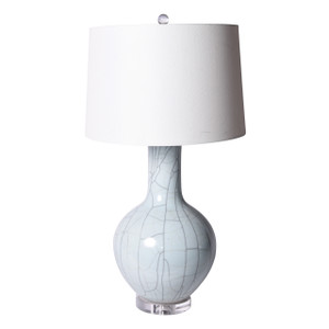 Crackle Celadon Globular Vase Table Lamp