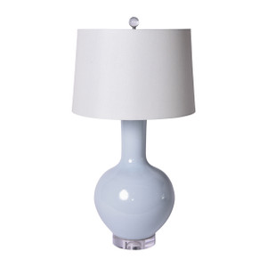 Icy Blue Globular Vase Table Lamp