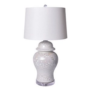 Crystal Shell Temple Jar Table Lamp