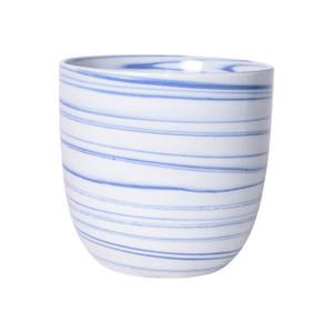Marble Blue Porcelain Orchid Pot