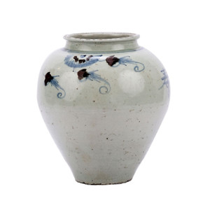 Blue & White Silla Longevity Wide Mouth Porcelain Jar