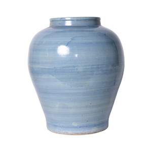 Lake Blue Open Mouth Porcelain Jar - 2 Sizes