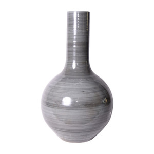 Iron Gray Porcelain Globular Vase