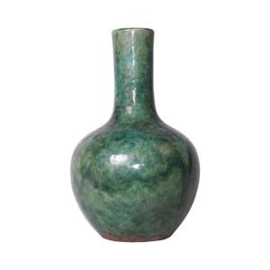 Speckled Green Globular Vase
