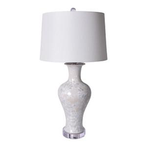 White Crystal Shell Fishtail Vase Lamp