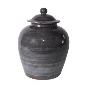 Iron Gray Village Lidded Jar