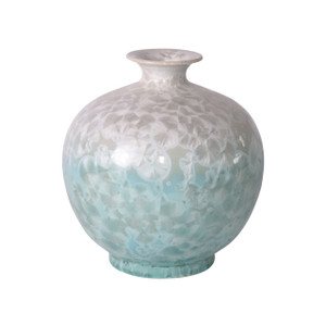 White Green Crystal Shell Pomegranate Vase