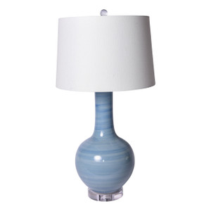 Lake Blue Globular Vase Table Lamp - 3 Sizes