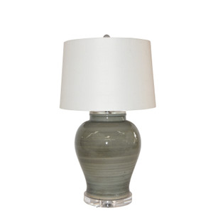 Iron Gray Open Top Jar Small Table Lamp