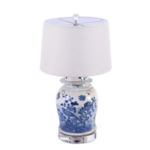 Lamp Vintage Temple Jar Flower Bird Motif - 2 Sizes